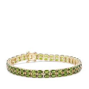 Chrome Diopside Bracelet in 9K Gold 17.91cts