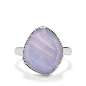 Blue Lace Agate Ring in Sterling Silver 8.59cts
