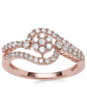 Pink Diamond Ring in 18k Rose Gold 0.52ct