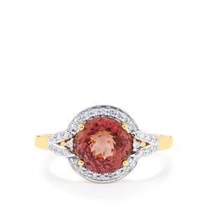 Colour Change Garnet & Diamond 18K Gold Tomas Rae Ring MTGW 2.91cts