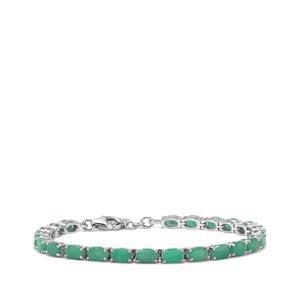 10.70ct Carnaiba Brazilian Emerald Sterling Silver Bracelet