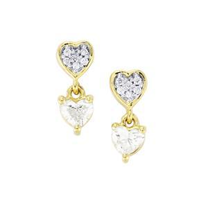 Diamond Earrings in 18K Gold 0.54