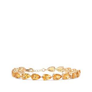 15.06ct Diamantina Citrine 9K Gold Tomas Rae Bracelet
