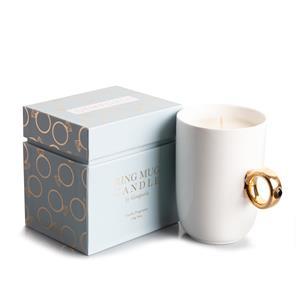 Ring Mug Candle - Gold handle with Smokey Quartz ATGW 2cts