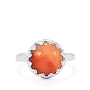 Pink Lady Opal Ring in Sterling Silver 2.94cts