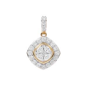 Diamond Pendant in 18K Gold 0.76ct