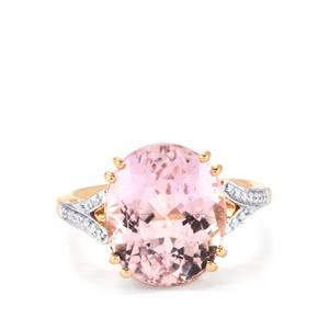 Mawi Kunzite Ring with Diamond in 18K Rose Gold 8.69cts