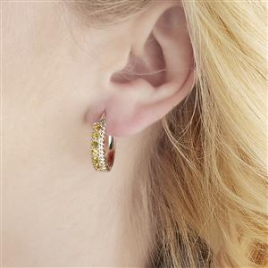 Ambilobe Sphene Earrings in Sterling Silver 1.12cts