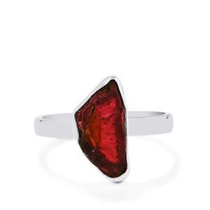 3.05ct Rhodolite Garnet Sterling Silver Ring