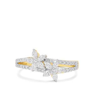 Diamond Ring in 18K Gold 0.58ct