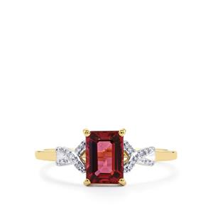 Umbalite Ring with Diamond in 9K Gold 1.36cts