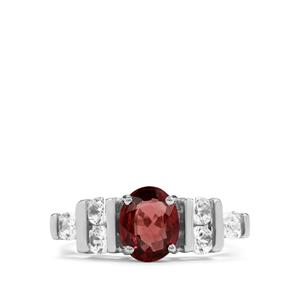 Burmese Multi-Colour Spinel & White Zircon Sterling Silver Ring ATGW 1.61cts