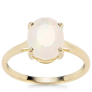 Ethiopian Opal Ring in 9K Gold 1.45cts