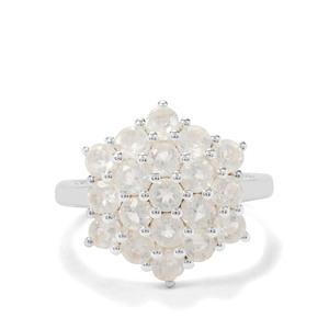 2.07ct Plush Diamond Sunstone Sterling Silver Ring