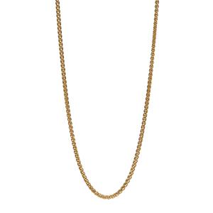 """18"""" Gold Tone Sterling Silver Dettaglio Mini Spiga Chain 2.70g"""