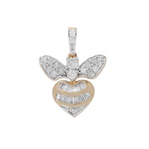 Diamond Pendant in 9K Gold 0.54ct
