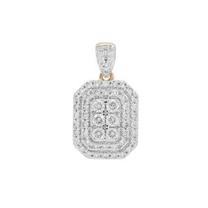 Russian VSi Diamond Pendant in 9K Gold 1cts