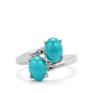 Sleeping Beauty Turquoise Ring in Sterling Silver 2.23cts
