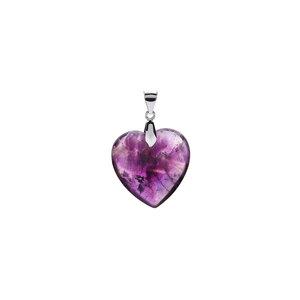 Zambian Amethyst Heart Pendant in Sterling Silver 15.90cts