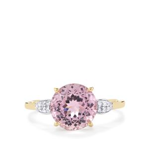Mawi Kunzite Ring with Diamond in 10k Gold 3.50cts