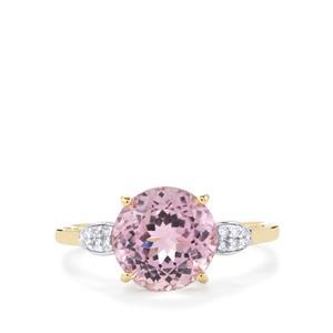 Mawi Kunzite & Diamond 9K Gold Ring ATGW 3.50cts