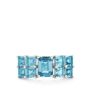 5.16ct Swiss Blue Topaz Sterling Silver Ring