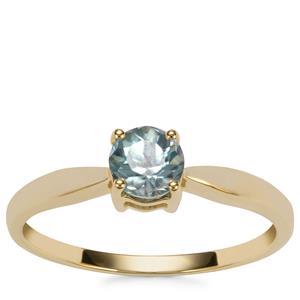 Ratanakiri Blue Zircon Ring in 9K Gold 0.74ct
