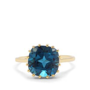 5.29ct Marambaia London Blue Topaz 9K Gold Ring