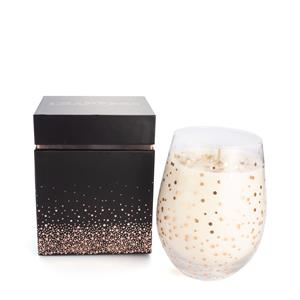 Celebration Candle - Pink Champagne Fragrance with Champagne Quartz ATGW 10cts