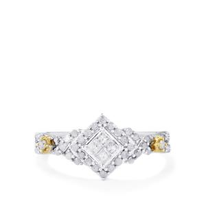 Diamond Ring in 10K Two Tone Gold 0.50ct