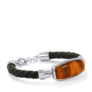 18ct Tiger's Eye Sterling Silver Bracelet