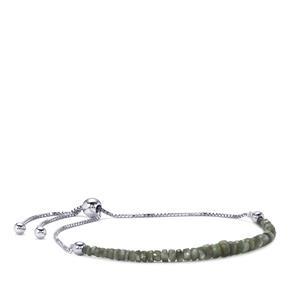 4.25ct Alexandrite Sterling Silver Graduated Slider Bead Bracelet