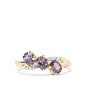 Mahenge Purple Spinel & Diamond 9K Gold Ring ATGW 1.13cts