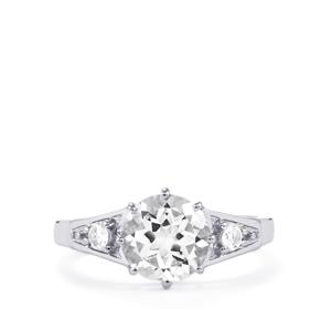 White Topaz Ring in Sterling Silver 2.58cts