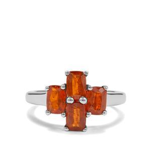 2.87ct Loliondo Orange Kyanite Sterling Silver Ring