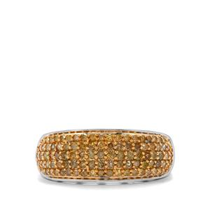 3/4ct Yellow Diamond Sterling Silver Ring