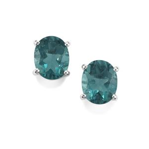 6.29ct Tucson Green Fluorite Sterling Silver Earrings