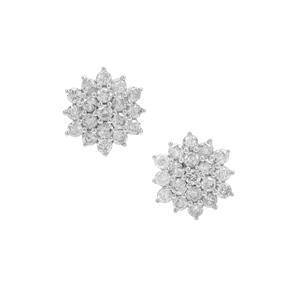 Diamond Earrings in 9K Gold 1.07cts