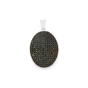 3.40ct Black Spinel Sterling Silver Pendant