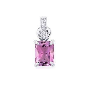 Moroccan Amethyst & White Topaz Sterling Silver Pendant ATGW 1.41cts
