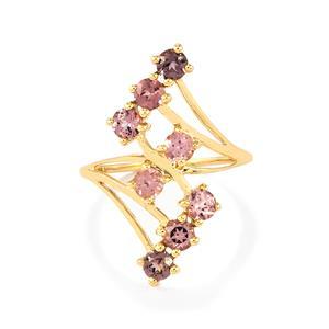 1.46ct Mahenge Purple Spinel 9K Gold Ring