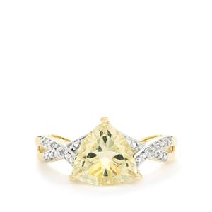 Serenite Ring with Diamond in 10k Gold 2.14cts