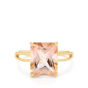 5.38ct Galileia Topaz 9K Gold Ring