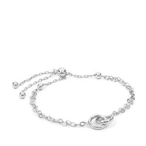 """10"""" Sterling Silver Altro Rolo Slider Bracelet 3.52g"""