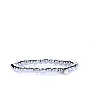 Sterling Silver Altro 6mm Ball Elastic Bracelet 4.50g