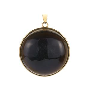 """""""Moonlight"""" Obsidian 40ct Pendant in Gold Tone Sterling Silver 40cts"""