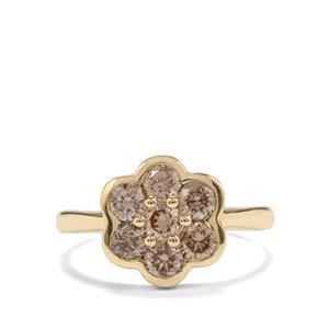 1.25ct Champagne Diamond 9K Gold Tomas Rae Ring