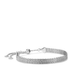 "10"" Sterling Silver Altro Mirror Slider Bracelet 7.32g"