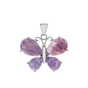 Bahia Amethyst Butterfly Pendant in Sterling Silver 15cts