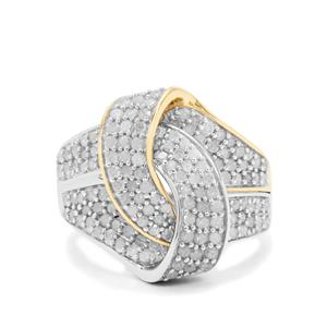 Diamond Ring in 9K Two Tone Gold 1.50cts